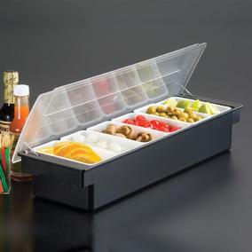Condimentero Organizador Barra Fruta C/tapa 6 Div. Reforzado