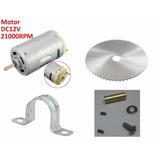 Kit Disco Motor Y Adaptador Para Mini Sierra De Banco Casera