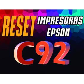Reset Desbloqueador De Impresora Epson C92