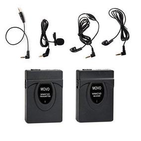 Movo Lavalier Sistema De Micrófono Inalámbrico De 2,4ghz (