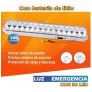 Luz De Emergencia 30 Leds Zurich 300 Lumens 5hs Litio 3,7v