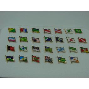 Pins Da Bandeira Tremulando Dos Estados Do Brasil.