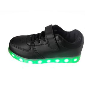 Zapatillas Abrojo Y Cordon Elastico Calzados Luz Led Luces