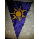 6 Banderines De Tela Sol De Rapunzel - Pintado A Mano