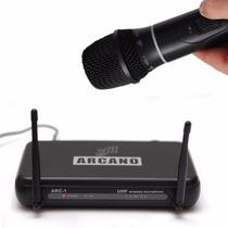 Fg Microfone Sem Fio Arcano Uhf Am-ha1 De Mão Completo