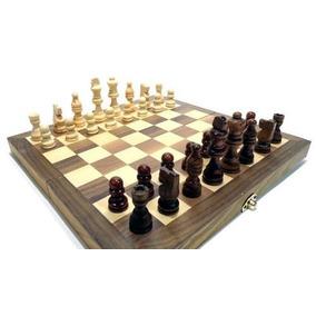 Jogo De Xadrez Gamão 3x1 Peças E Tabuleiro Em Madeira 30x30