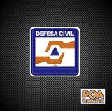 Patch Bordado Termocdefesa Civil Distintivo Breve