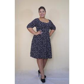 Vestido Licrado Corte Linea A- Tallas Grandes - Gorditas. S  110 1f901c9470ca