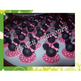 Souvenir Minnie Para Cumpleaños En Porcelana Fría