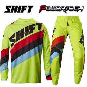 Conjunto Equipo Motocross Shift Amarillo Fluo