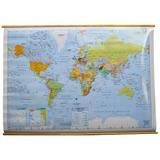 Mapa Mural Planisferio (división Política) Entelado