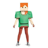 Disfraz De Minecraft Alex Classic, Multicolor, Grande