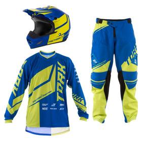 Kit Equipamento Motocross Trilha Factory Edition 3 Itens