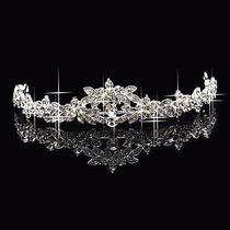 Coroa Tiara Pente Noiva Princesa Prata Com Strass,vejam!!