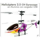 Helicoptero Radio Control 3.5 Ch Muy Estable P/principiant