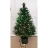 Arbol De Navidad Fibra Optica Multicolor 80cm ¡luce Hermoso!