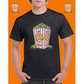 Polera De Algodón Diseño Pop Corn Weed c86a10ba53216