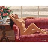 Mujer Desnuda En El Sofa - Arthur Sarnoff - Lámina 45x30 Cm.