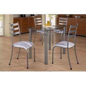 Conjunto Mesa Jantar Cozinha 4 Cadeiras Gênova - Madmelos