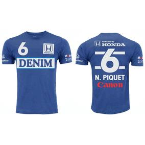 Camisa Retrô Nelson Piquet Formula 1 Williams Azul b37cbd25191e5