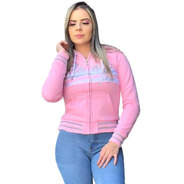 Blusa Moletom Dupla Face Rose Letreiro Paetê Planet Girls