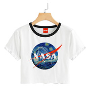 Blusa Dama Nasa Astronauta Espacio Colores Playera Crop #665