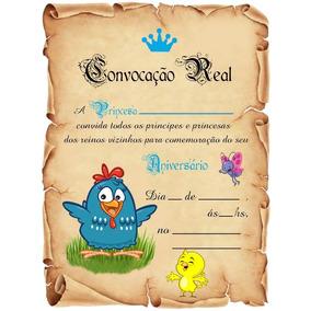 01 Festa Galinha Pintadinha Convite Aniversário Princesa
