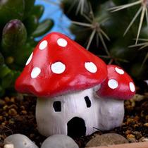 Mini Casa Cogumelo Miniatura Terrário Mini Jardim Casinha
