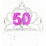 Foro Novedades Feliz 50 Cumpleaños De Plata Rosada Tiara