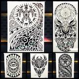 Tatuagem Grande Maori Lindas !!! (16x20cm)