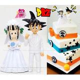 Dragon Ball Z Goku Novio Milk Novia Chi Chi Matrimonio 12cm