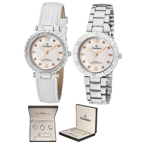 Relógio Feminino Analógico Champion Prateado - Cn29203q