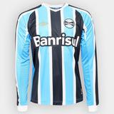 Camisa Grêmio Tricolor Mangas Longas 27 A. Santos - Camisa Grêmio ... 7ed883424a664