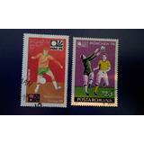Lote 2 Estampillas Mundial De Futbol 1974