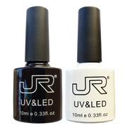 2 Gel Jr Blanco Y Negro Semipermanente Uñas Aplica Pigmentos