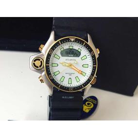 5f88f257323 Relógio Pulso Masculino Atlantis Aqualand Serie Ouro Branco ...
