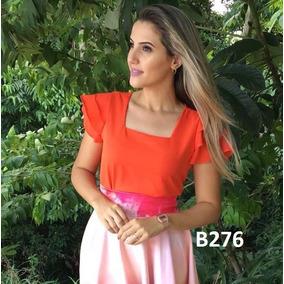 Blusa Feminina Blusinha Gola Quadrada T.boutique