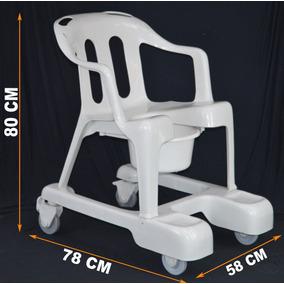 Cadeira De Banho Em Plastico Com Rodas Idoso Marfinite