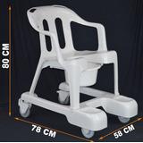 Cadeira De Banho Idoso Com Rodas Em Plastico Marfinite