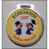 Medalla Egresado 2017 Jardin Escolar 35 Mm M5