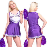 Sexy High School Cheerleader Traje Porristas Chicas Uniforme
