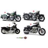 Motos Miniatura Harley-davidson 1:18 Maisto 4 Unids