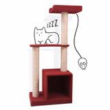 Torre De Entrenamiento Con Rascador Para Gatos - 120 Cm