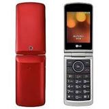 Celular Lg Flip Abre E Fecha Bluetooth Tela Grande Vermelho