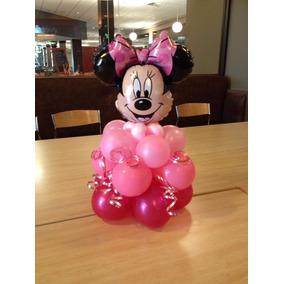 Centro De Mesa Minnie O Mickey Decoración En Globos