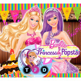 Kit Imprimible Barbie Princesa Popstar Fiesta Editable Invit