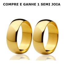 Alianças Folheadas Ouro 6mm Compromisso Baratas Namoro
