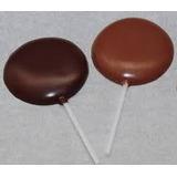 Pirulito Chocolate Redondo Personalizado 100 Unidades