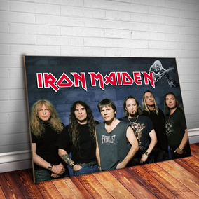 Placa Decorativa Iron Maiden 10 Rock Banda Mdf 3mm Quadro