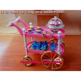 Carrinho De Chá Para Boneca Barbie * Blythe * Bolo Cupcake
